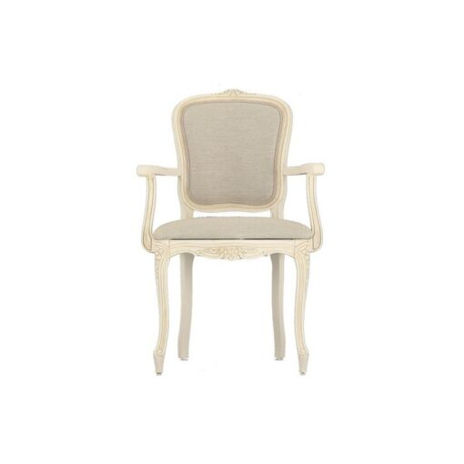 Provencale – Ivory Carver Dining Chair Single