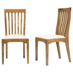 Garrat Honey Dining Chairs – Pair