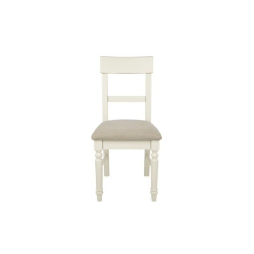 Dorset White Upholstered Dining Chairs-Pair