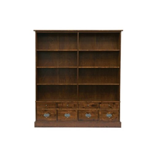 Garrat Chestnut Bookcase 8 Drawer