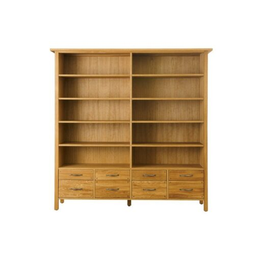 Milton Bookcase 8 Drawer