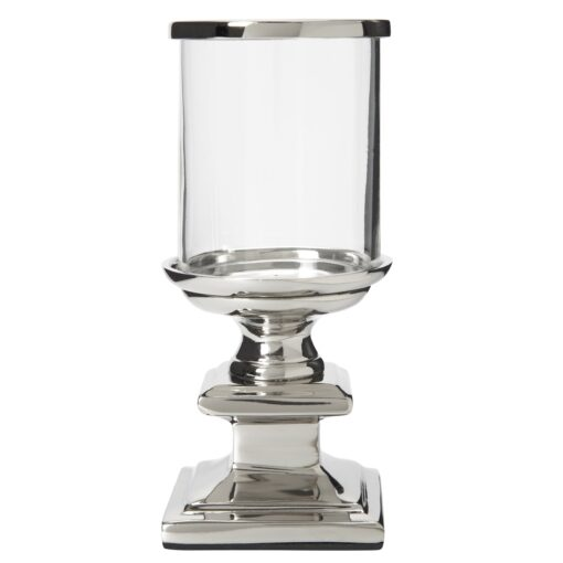 Glass and Metal Mini Hurricane Tealight Holder