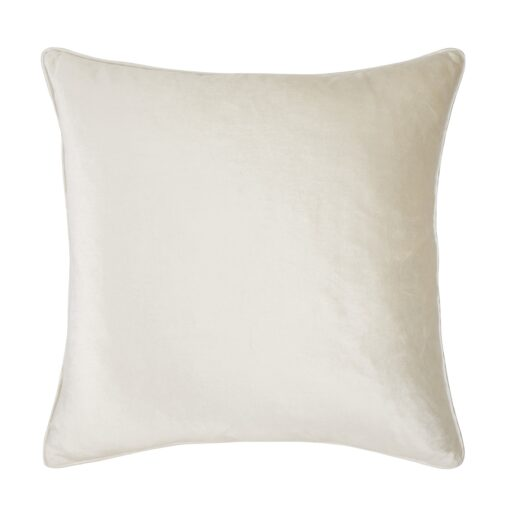 Nigella Oyster Square Velvet Cushion