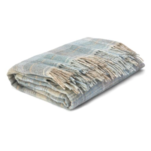 Cranbourne Duck Egg Wool Throw