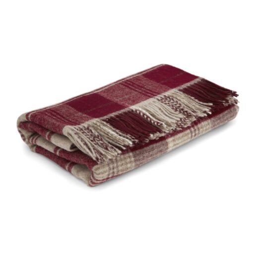 Cranbourne Cranberry Wool Throw