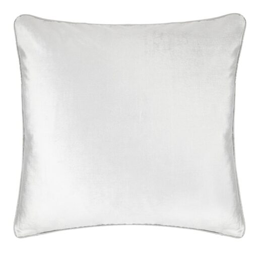 Nigella Silver Velvet Square Cushion