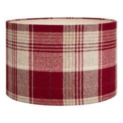Cranbourne Check Drum Shade 12 inch
