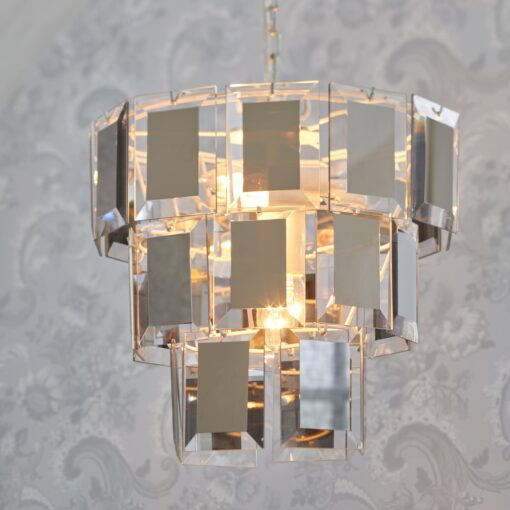 Adela 3-Tier Glass Ceiling Pendant