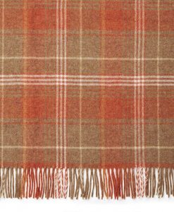 Cranbourne Copper Check Wool Throw