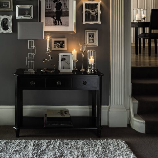 Henshaw – Black Console Table