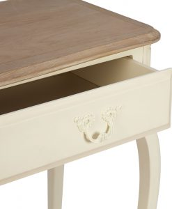Provencale – Ivory Console Table – Oak Top