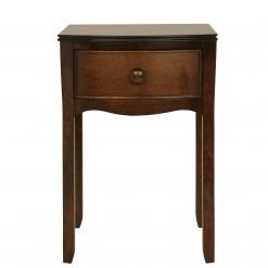 Broughton – Dark 1 Drawer Bedside Table