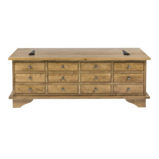 Garrat Honey Coffee Table – 12 Drawer