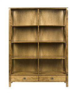 Balmoral Honey Double Bookcase