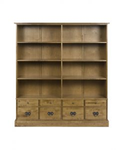 Garrat Honey Bookcase 8 Drawer