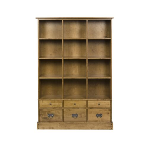 Garrat Honey Book Case 6 Drawer