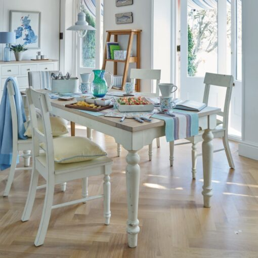 Dorset White Dining Chairs – Pair