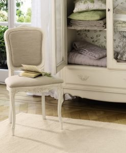 Provencale – Ivory Upholstered Dining Chairs-Pair