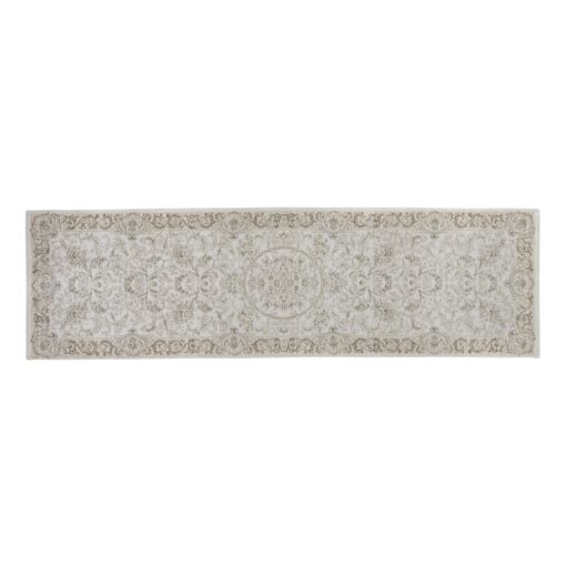Victoriana Dove Grey Cotton Runner