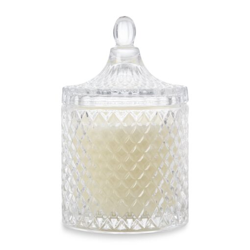Large Faceted Jar Candle Unscented