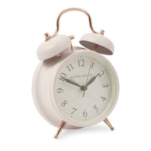 Blush Pink Medium Bell Alarm Clock