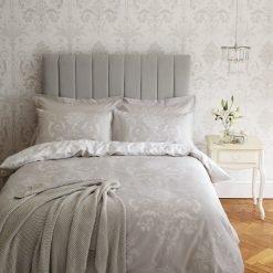 Josette Single Dove Grey Cotton Duvet Cover