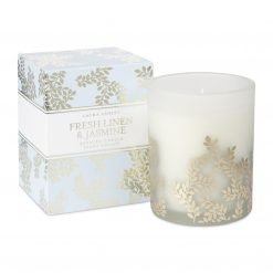 Fresh Linen and Jasmine Scented Candle