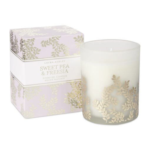 Sweet Pea and Freesia Scented Candle