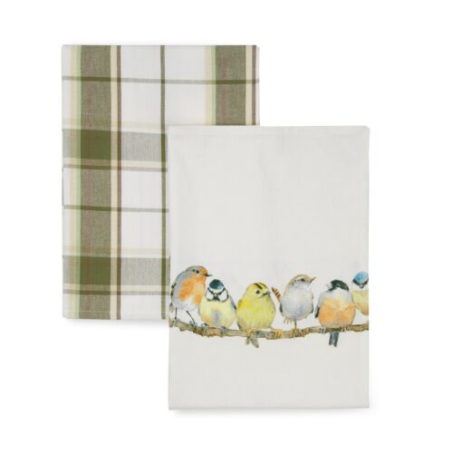 Garden Birds Set of 2 Tea Towels