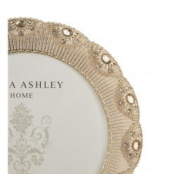 Lottie Round Gold Photo Frame
