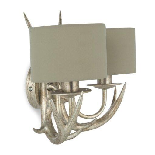 Vegglampe med reinsdyrhorn