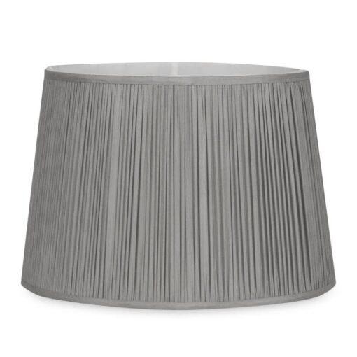lampeskjerm i lys koksgrå silke