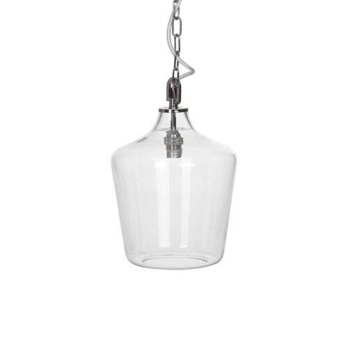 takpendel med glassflaskekuppel