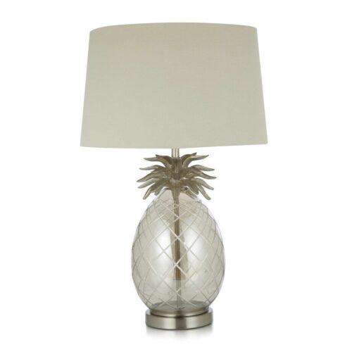 Ananaslampe i glass