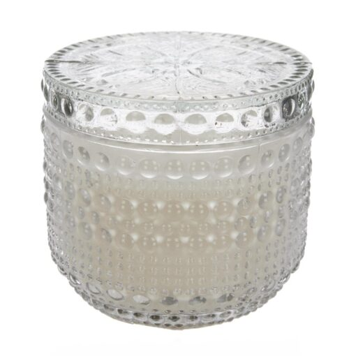 stearinlys i glasskrukke