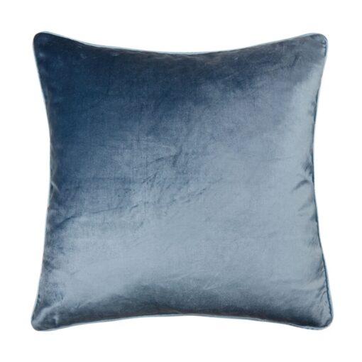Fløyelspute i mørk seaspray blå