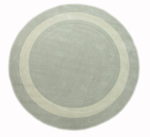 Lewes, rundt gulvteppe i ull i fransk grå